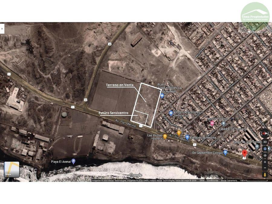 venta terreno en tocopilla ubicado en la ruta uno