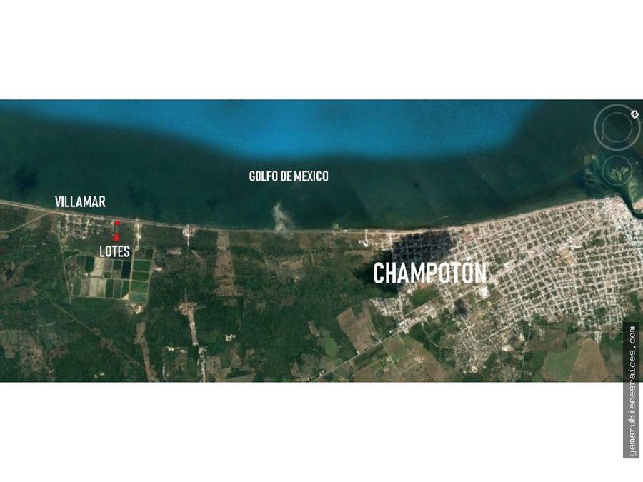 terreno frente playa carretera champoton islaguada