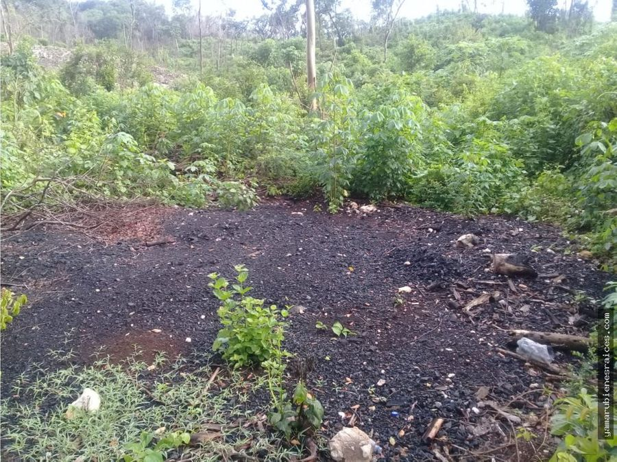 vendo terreno solar en uayamon campeche