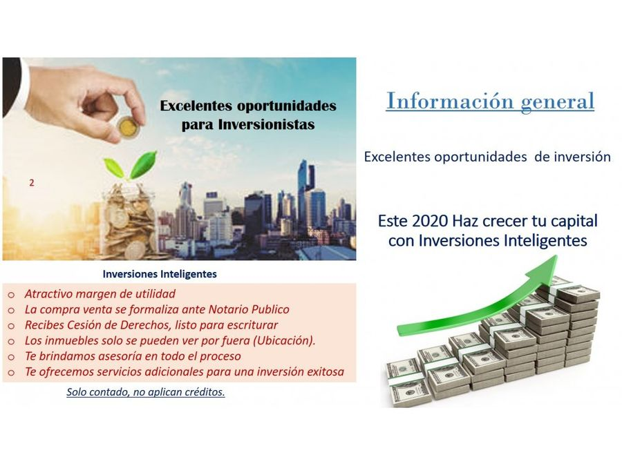 oportunidad de inversion solo contado geovillas de la asuncion