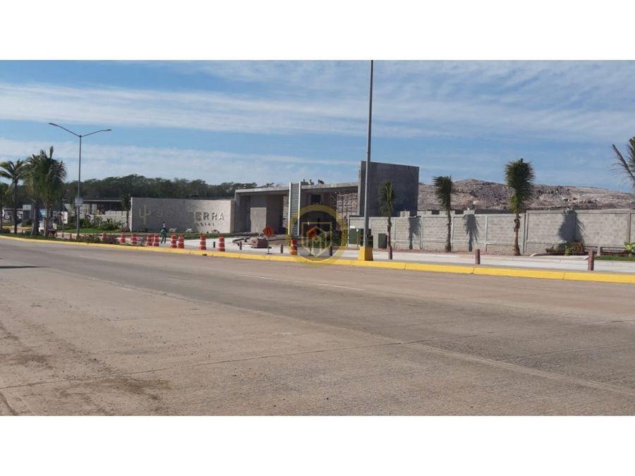 terreno en venta frente al area verde sonterra mazatlan