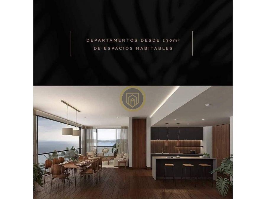 departamento en venta con vista al mar torre the o grand living