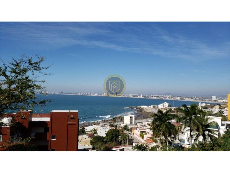 terreno en venta en con vista al mar en mazatlan