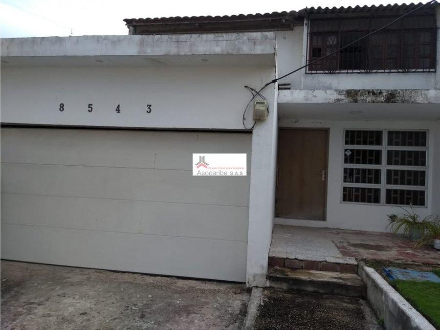 casa en venta barrio riomar barranquilla