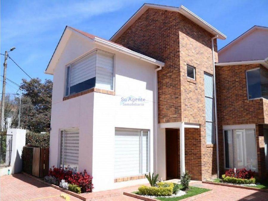 casa para la venta en unidad multifamiliar chia