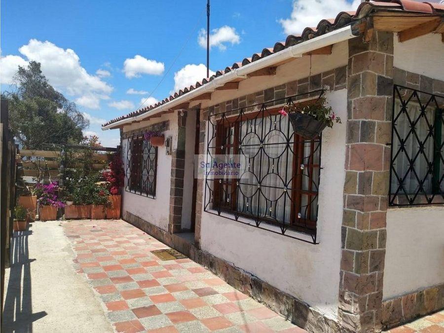 casa para la venta en guatavita