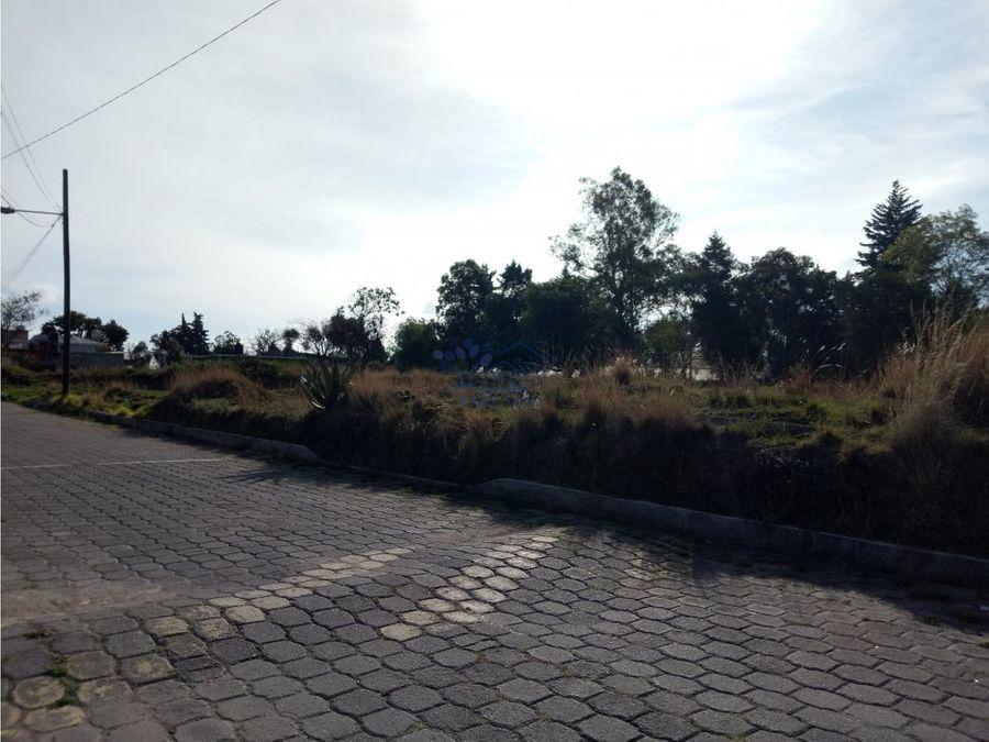venta de terreno con vista a los volcanes en san lucas cuauhtelulpan
