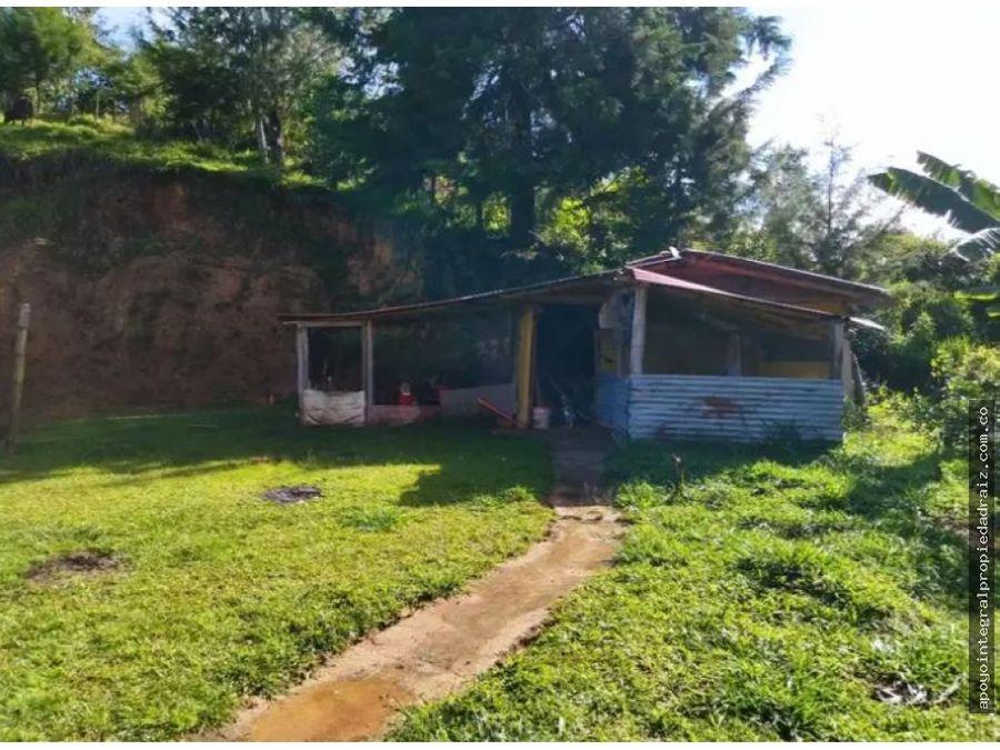 venta de finca con 2 casas vereda dos quebradas barbosa