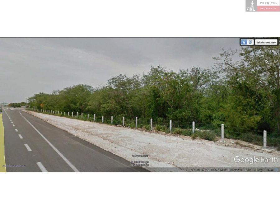 terreno en venta en mococha yucatan