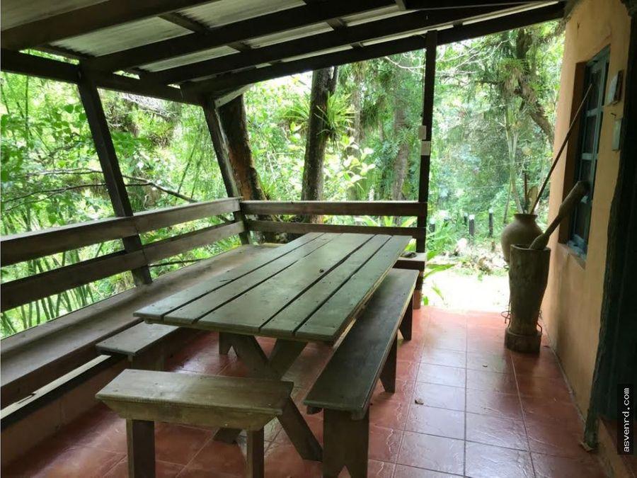 cabana en venta en manabao con extension de terreno de 125772mts