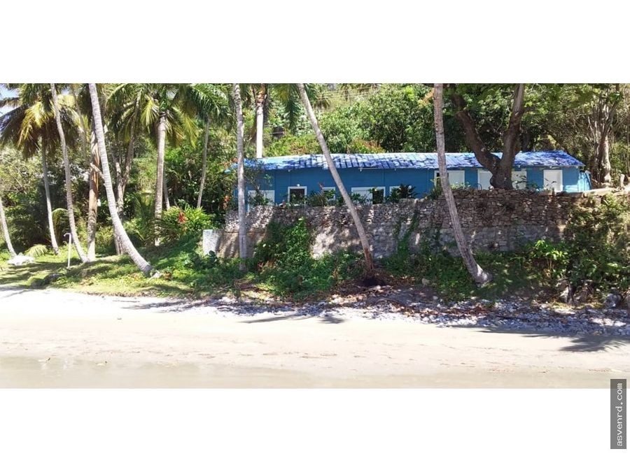 propiedad de playa en venta en samana