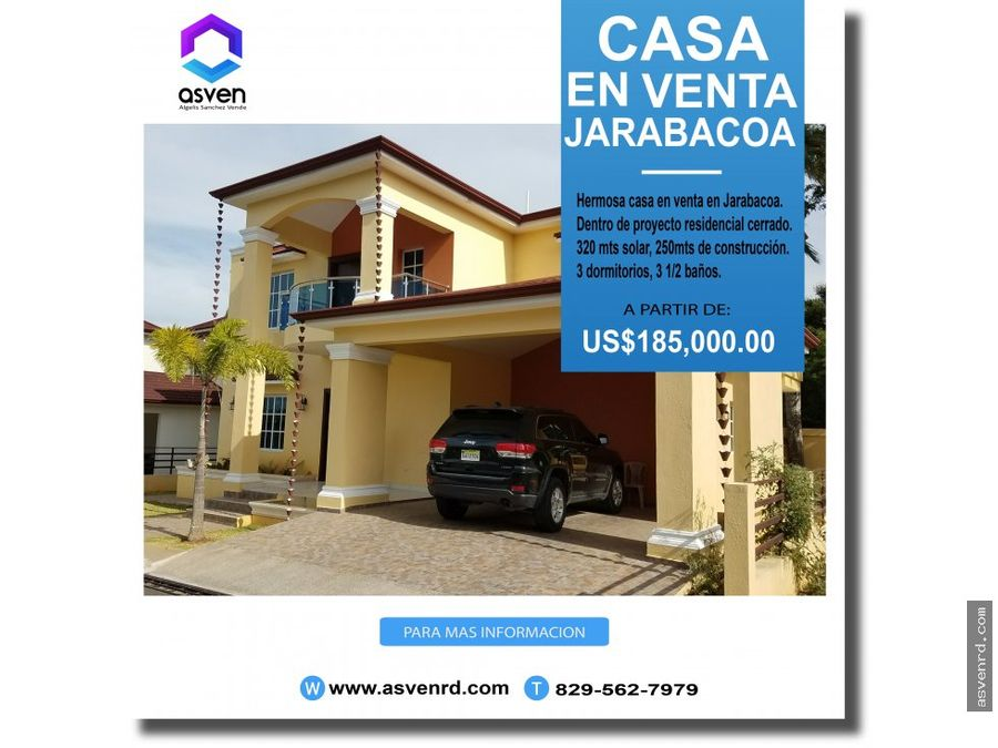 elegante casa en venta en jarabacoa