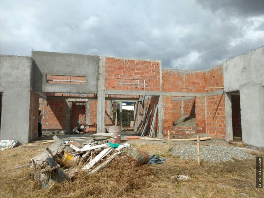 vendo casa sur de armenia en construccion