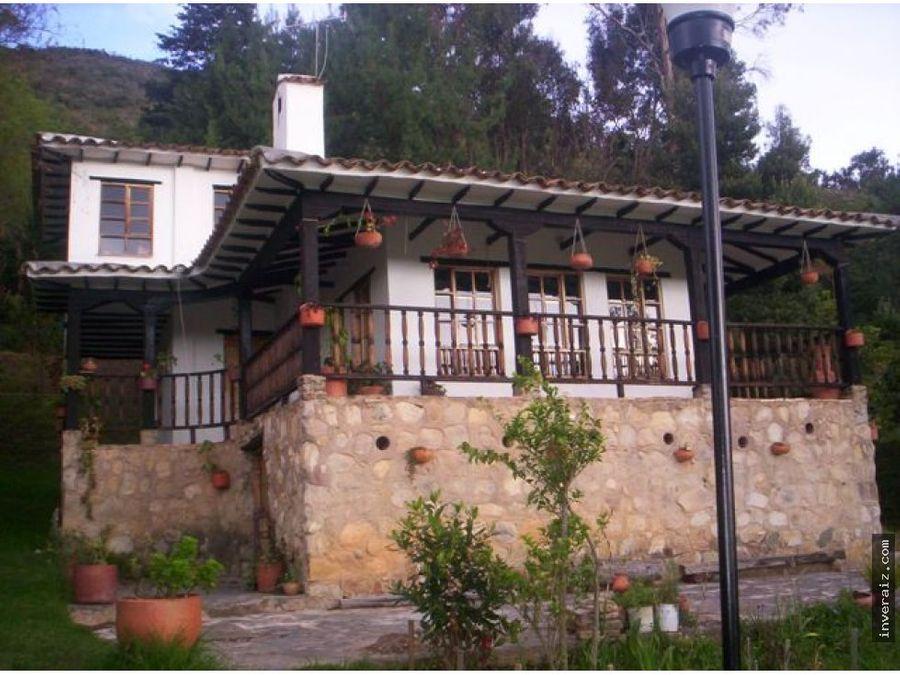 vendo casa campestre en villa de leyva ov