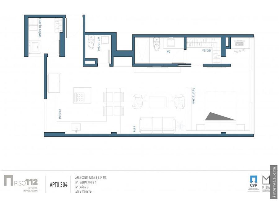 para venta apartaestudio 63 m2 en sta barbara ja