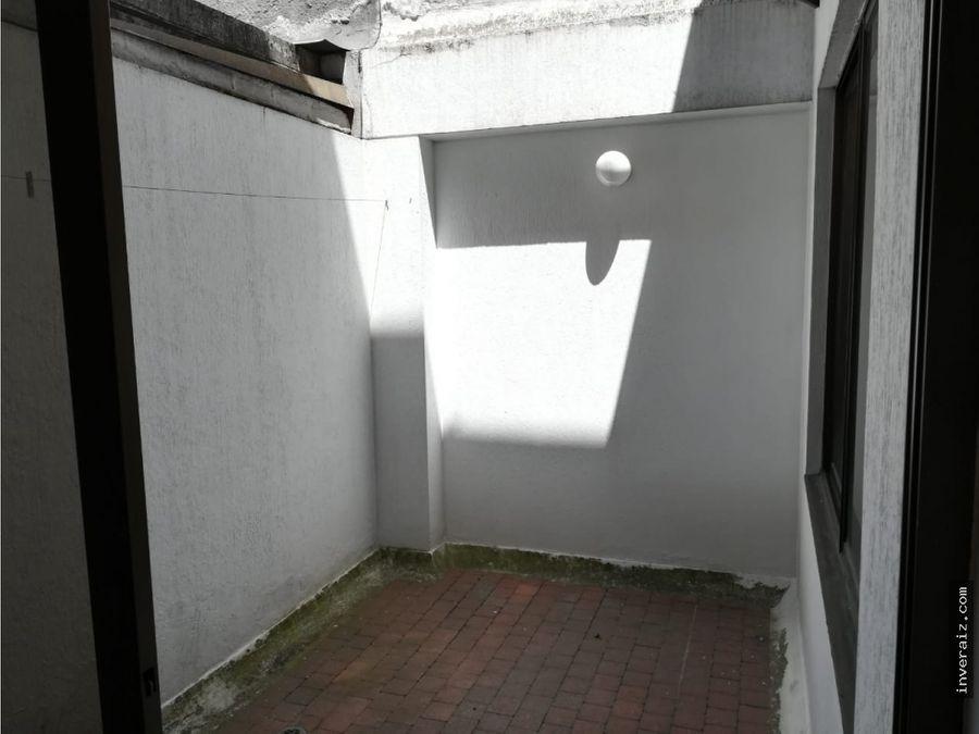 vendo apartaestudio interior con terraza en chico norte ov