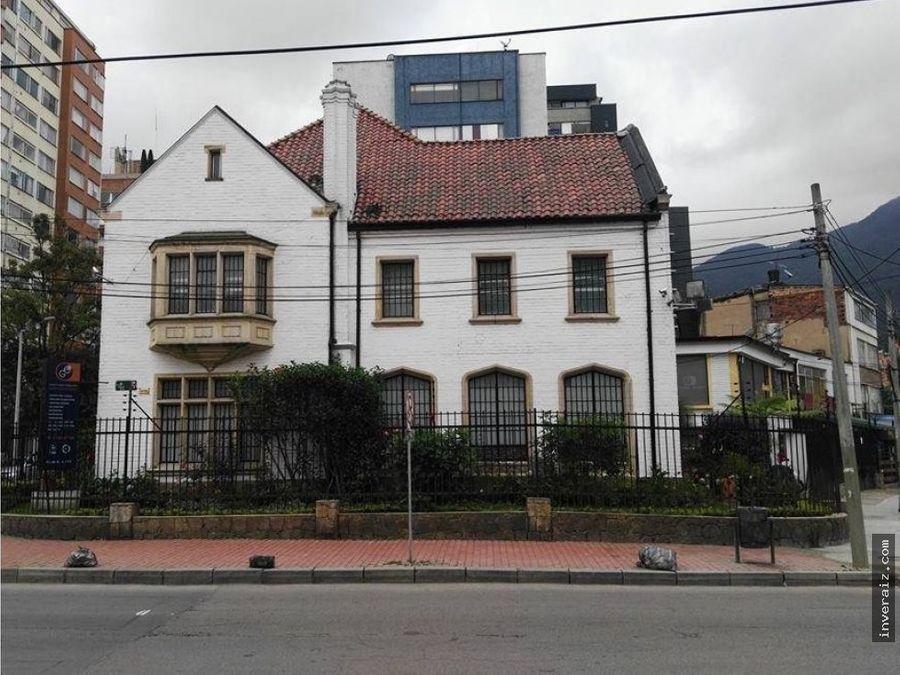 vendo casa comercial en chapinero 1042 mtrs yg