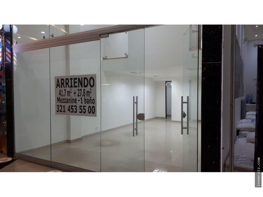 arriendo local 69 m2 piso segundo unicentro ja