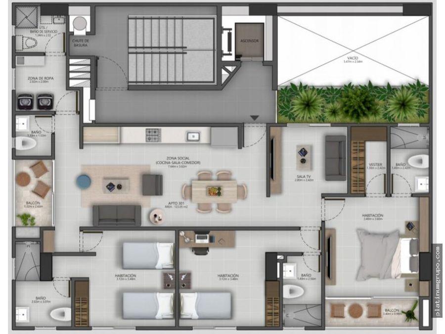 apartamento en venta en edificio en prados del norte cali cg