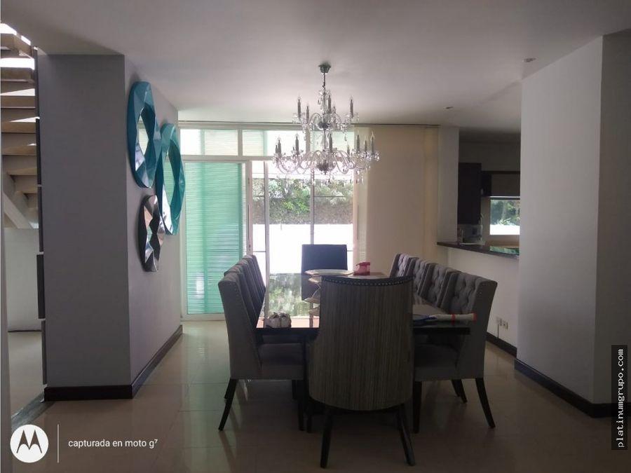 casa en venta en condominio en pance cali yg