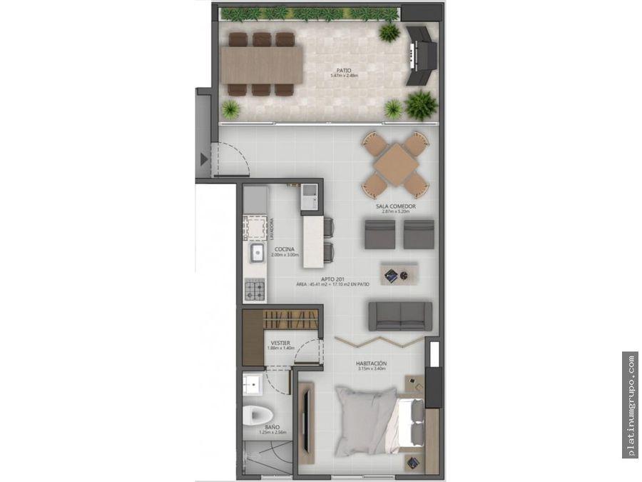 apartaestudio en venta en edificio en prados del norte cali cg