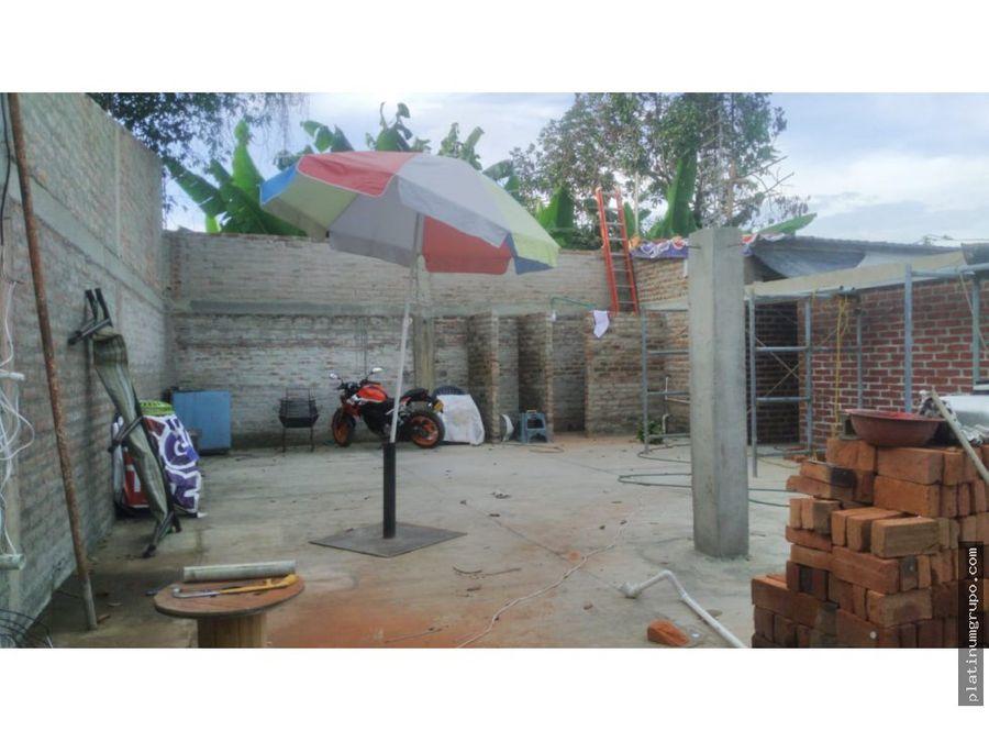 lote con vivienda en construccion en venta en rozo palmira en