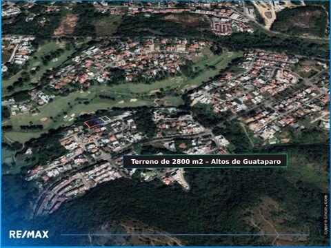 terreno residencial de 2800 m2 altos de guataparo valencia carabobo