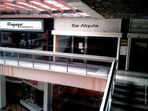 se alquila local en el centro comercial camoruco