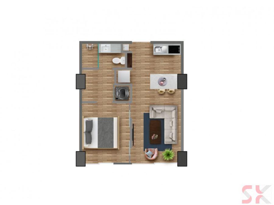 renta de moderno apartamento en quo para estrenar