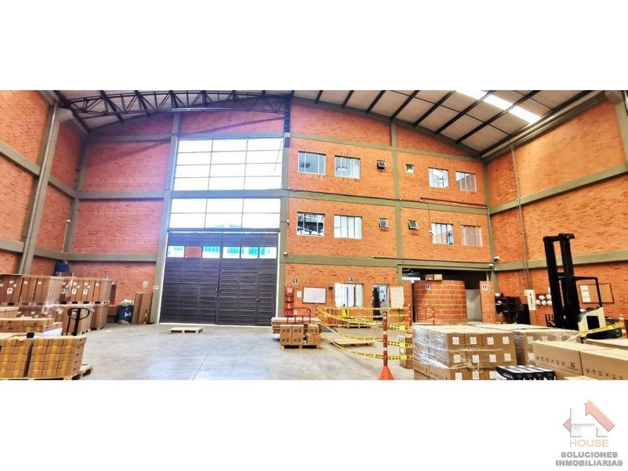 bodega en arriendo sector mosquera parque industrial
