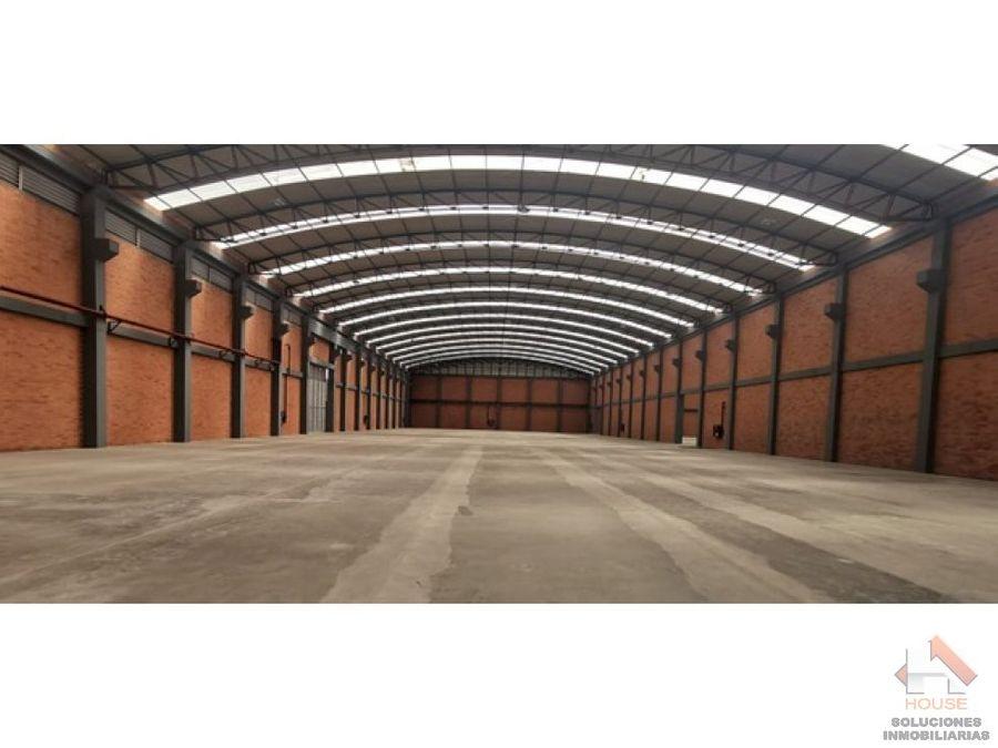 bodega en arriendo de 10773m2 funza parque industrial