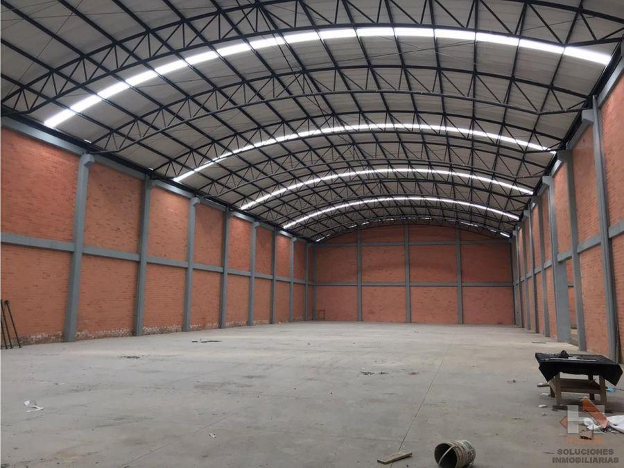 bodega en arriendo 2271m2 mosquera parque industrial