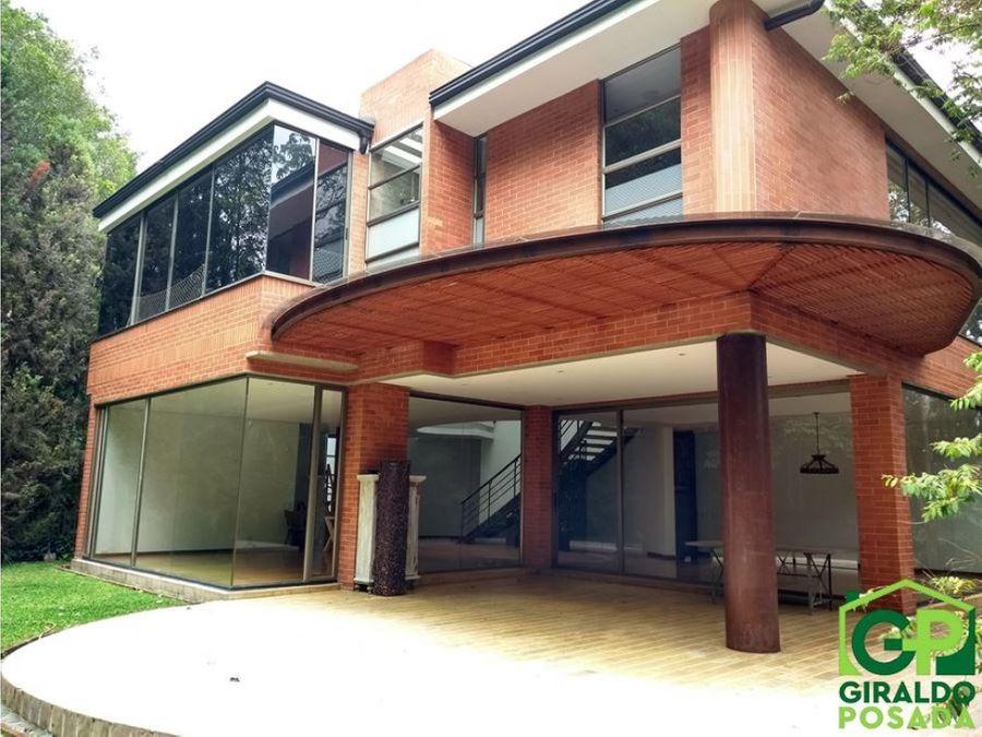 venta espectacular casa en el poblado los balsos