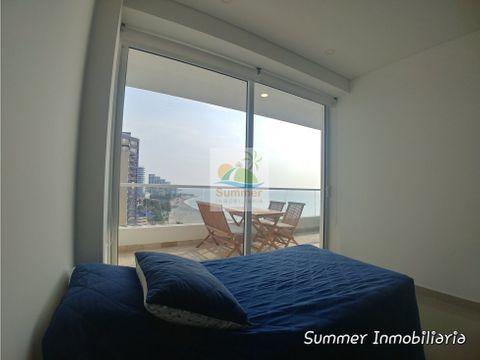 apartamento frente al mar 2 alcobas