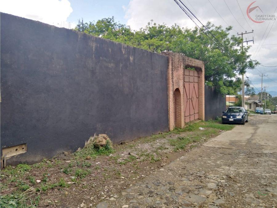 terreno en venta en cuernavaca ocotepec plano
