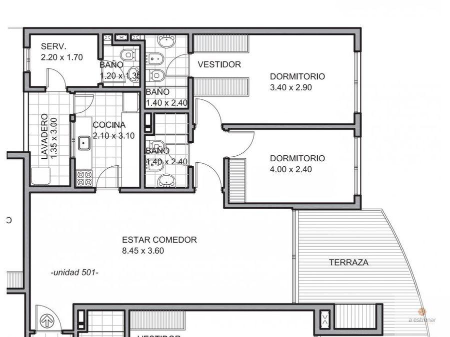 departamento de 2 dormitorios central park