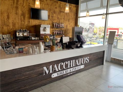 venta de negocio macchiatos yogurt coffee mc