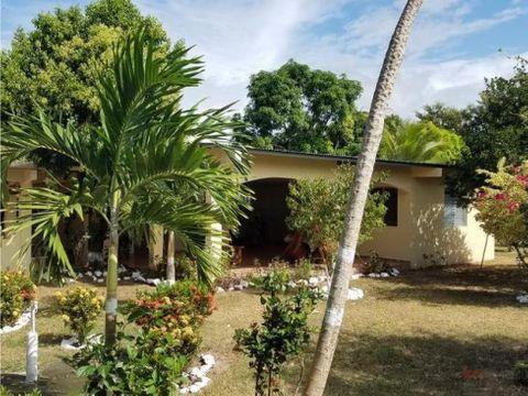 casa de campo y lote de 14 hectareas en venta cerca de playario hato