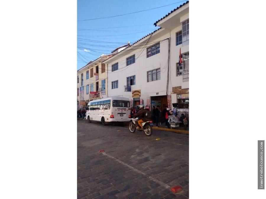 vendo edificio en zona comercial cusco peru