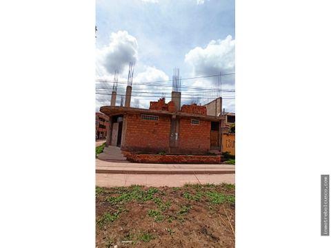 vendo edificio en proyecto 300 m2 esquina via evitamiento cusco peru