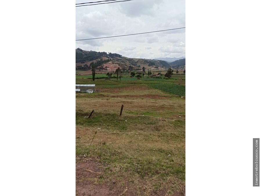 vendo terreno zona industrial 2305m cachimayo cusco peru