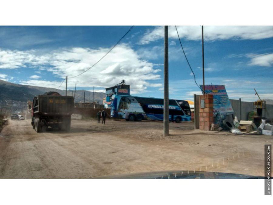 vendo lote 780 m via expresa esquina ss cusco