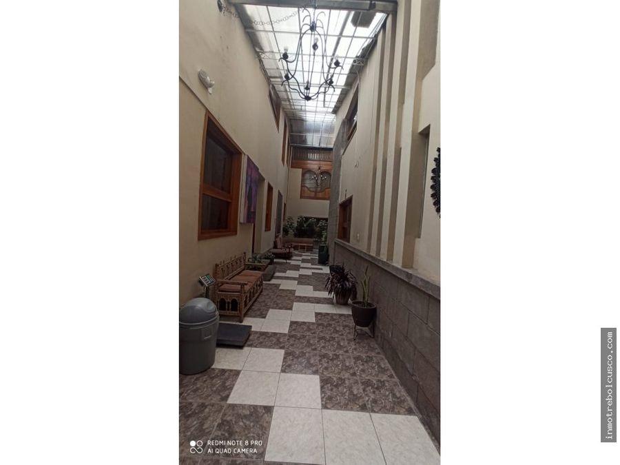 vendo hotel 3 estrellas ciudad de cusco peru