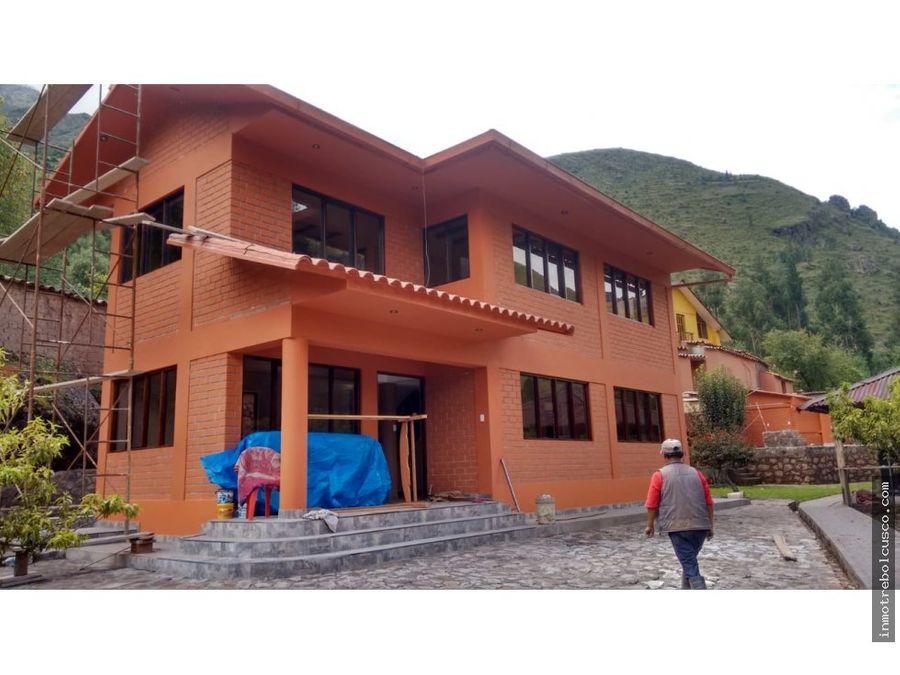 hermosa casa de campo 2080 m2 en calca cusco peru