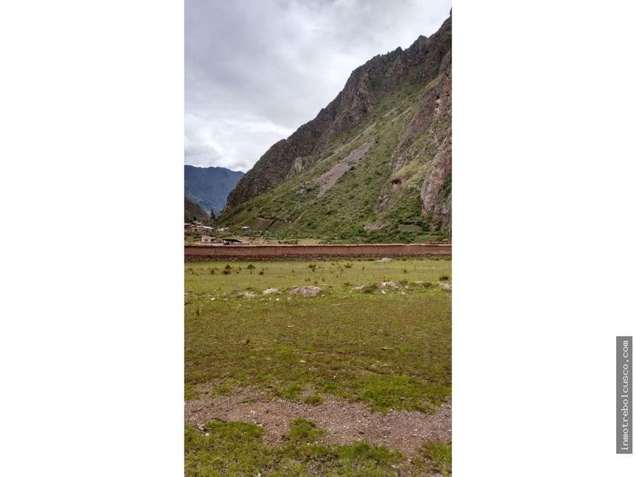 terreno a la pista 3339 m2 ollantaytambo y pachar cusco peru