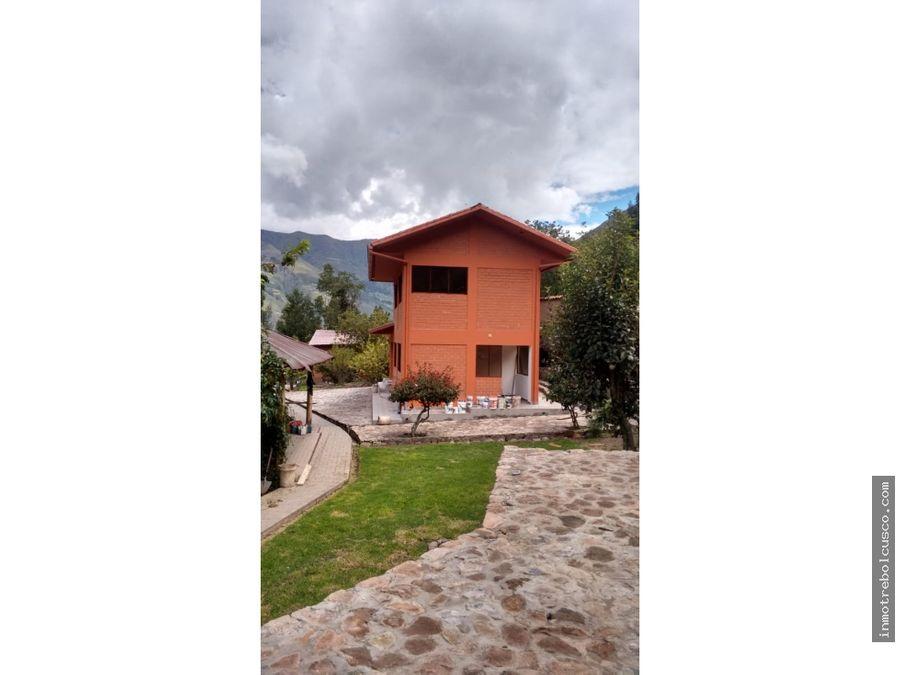 vendo bonita casa de campo 2080 m2 en calca cusco peru