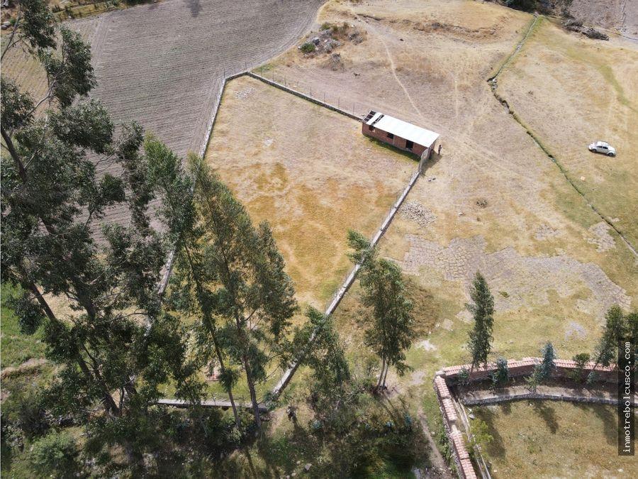 vendo 2 lotes de campo 750m yanahuara valle sagrado cusco peru
