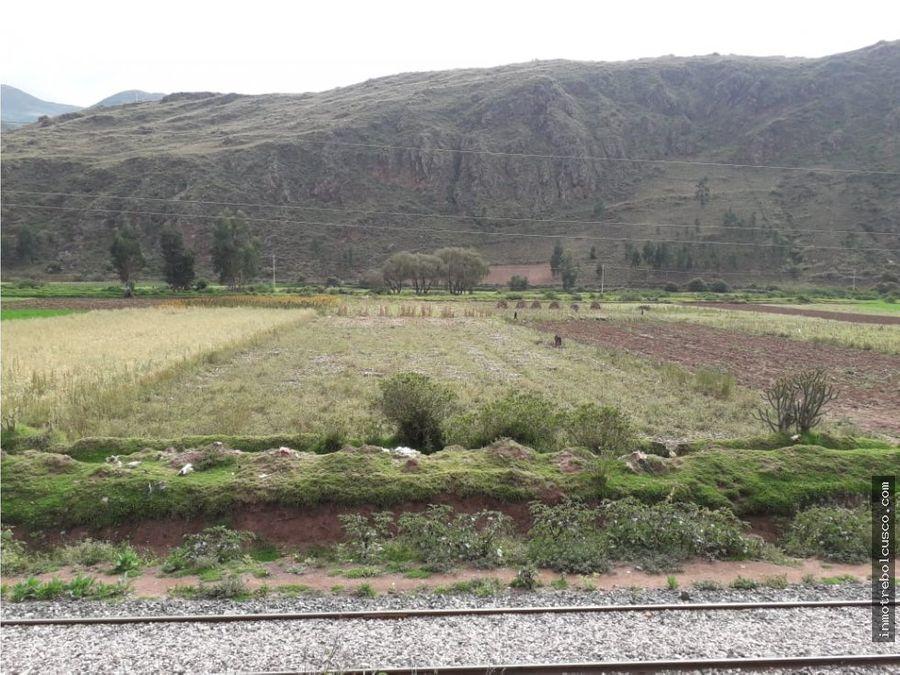 vendo terreno 2168 m pie pista oropesa cusco per