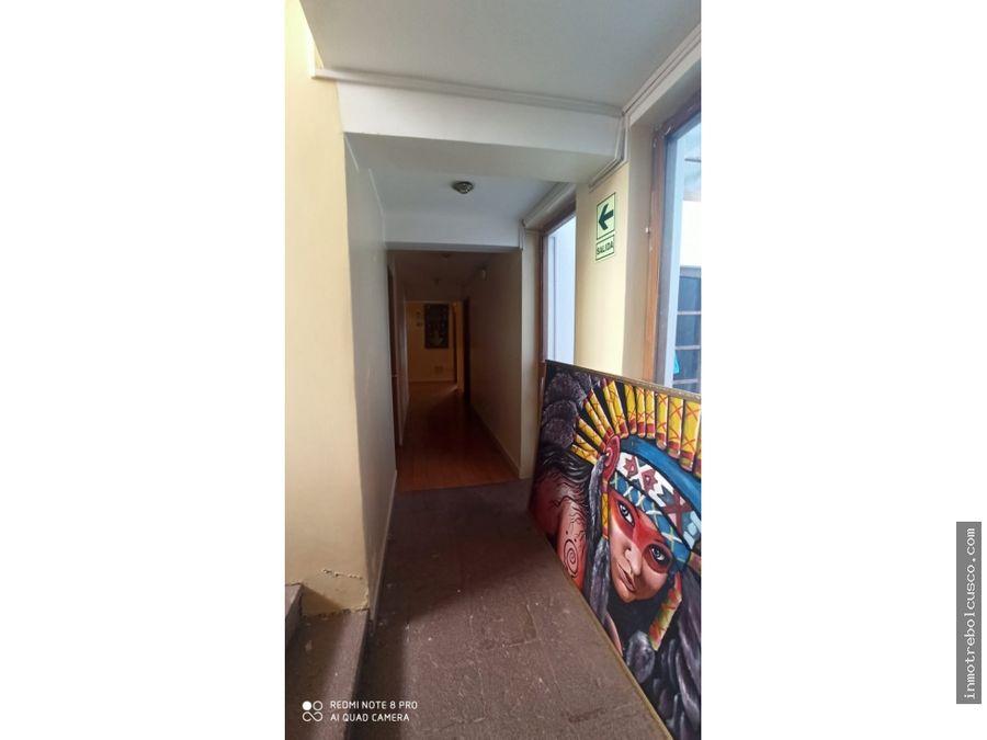 vendo hotel zona centrica cusco peru