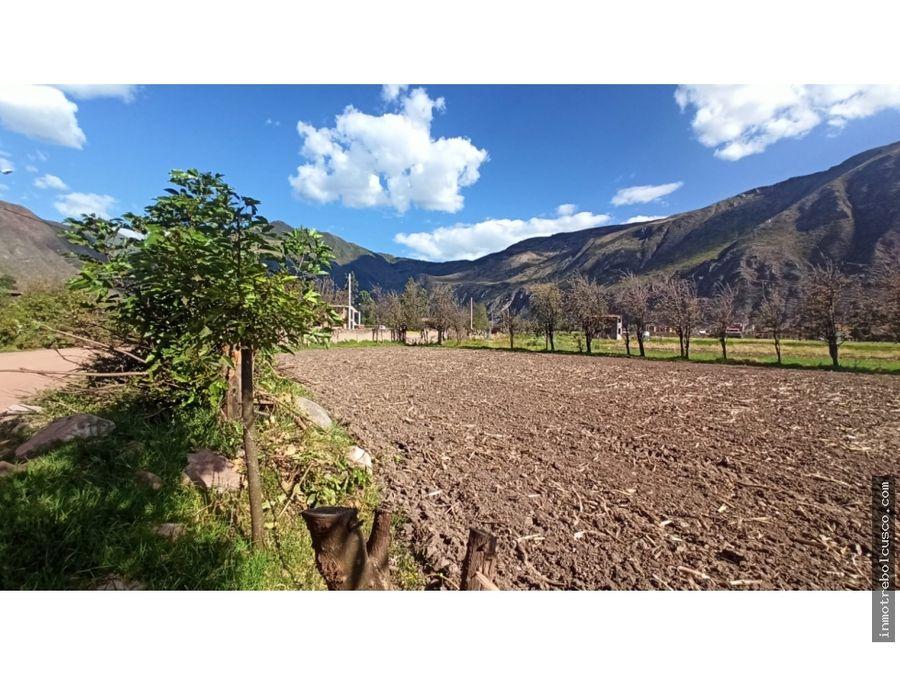 vendo terreno de 1318 m2 yucay urubamba cusco peru